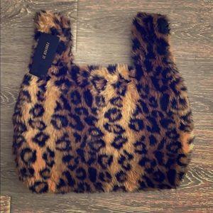 NWT Forever 21 leopard cheetah animal print bag